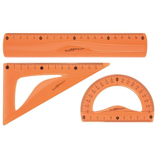 GEOMETRY SET FLEXY GOMMA 20 CM