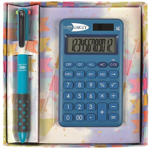 SET CALC.12 CIFRE + PENNA 4IN1